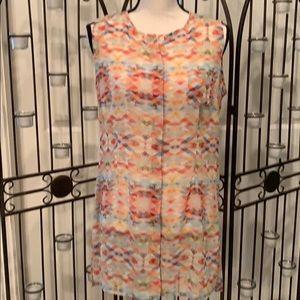 CAbi polyester button long blouse